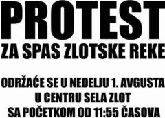 Veliki narodni protest za spas Zlotske reke od izgradnje mini hidroelektrane